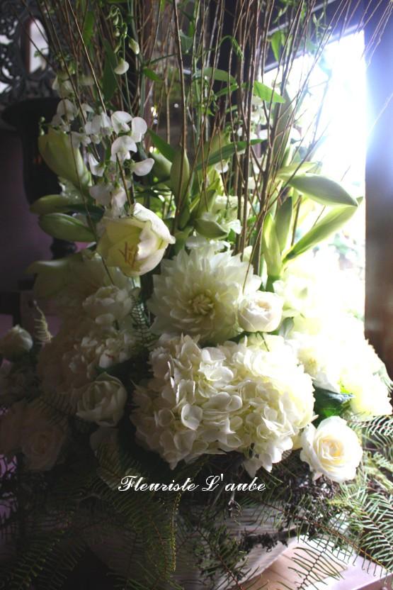 サロンオープンのお祝い花